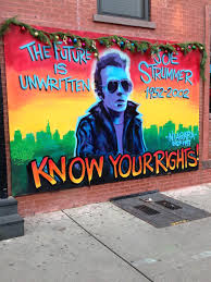 joe strummer mural in nyc on east 7th street across from