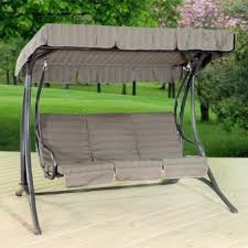 Richton 3 Person Cushioned Patio Swing with Canopy