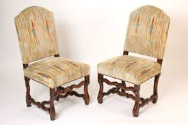 Pair Of Antique Louis XIV Style Walnut Side Chairs