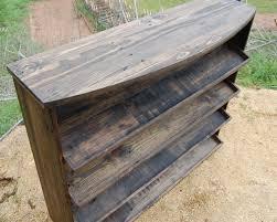 Entryway Table Shoe Rack Organizer Reclaimed Wood