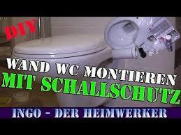 wand wc hänge wc klosett einbauen montieren installieren
