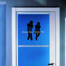 Funny Bathroom Door Art by Funny Sticker Toilet Door Post Sign For Bar Pub Cafe Shop Office