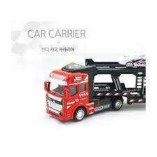 100 Toy Car Carrier Truck BANDI Friction Powered Transport Rier For Boys And