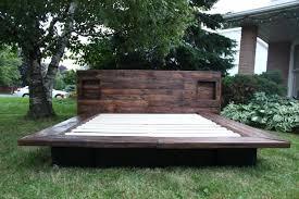 wooden pallet platform bed image furniture building a platform bed