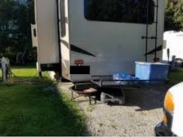 Our Current RVing Neighbor Has A Tow Cargo Carrier Attached To His Fifth Wheel For Extra Space Sometimes The Best RV Storage Ideas Are Ones That Simply