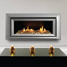 Escea ST900 Indoor Propane Fireplace Silver With With Ceramic
