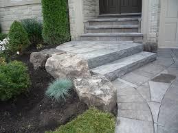 front entrance Mondrian slab natural stone steps garden Porch Step