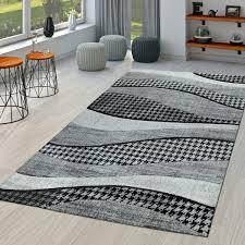 teppich wohnzimmer lisboa modern abstrakt in grau weiß