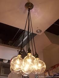 chandeliers design awesome charming bulb chandelier edison diy
