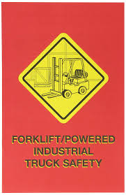 100 Powered Industrial Truck MARCOM Forklift Safety Employee Booklet