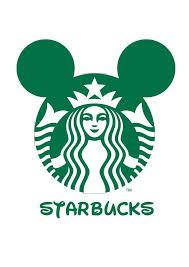 Logo Mash Up Disney Junior Starbucks Marit