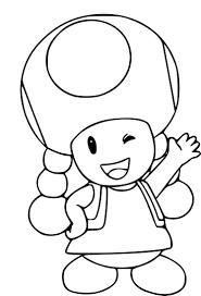 Coloriage Toadette Mario à Imprimer