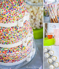 Baby Boy Cake Batter Rainbow Sprinkle Birthday Party