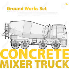 Concrete Mixer Truck. Outline Typography Set With Mix. Construction ... Fire Truck Outline 0 And Coloring Pages Clipart Line Drawing Pencil And In Color Truck Semi Rear View Drawing Peterbilt Coloring Page Icon Vector Isolated Delivery Stock Royalty Trailer Pages At 10 Mapleton Nurseries Template On White Free Printable Of Cars Trucks With Pickup Encode To Base64 Simple Icons Download Art Clipart Black Awesome At