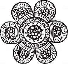 Coloriage Dun Superbe Mandala Avec Des Motifs Tribaux Dindien D