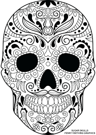 Skull Bones Anatomy Coloring Pages Sugar Skulls Day Dead Page For Adults Printable Full Size
