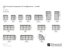 flexsteel leather 3305 vail sectional group