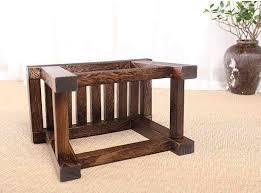 japanische antike holz hocker bank paulownia holz asiatische traditionelle möbel wohnzimmer tragbare kleine holz niedrigen hocker design