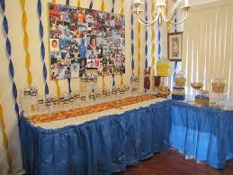 Graduation Decorations 2015 Diy by Lasalle University Graduation Party Gold Blue And Cream Décor