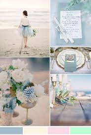 Netural And Dusty Blue Beach Wedding Ideas Inspiration For Summer 2015