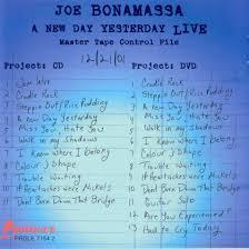 Setlist Smashing Pumpkins by Music Art Vcl Joe Bonamassa A New Day Yesterday Live 2005