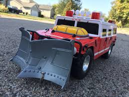 100 Tonka Fire Rescue Truck 2000 Hummer Toy Vehicle Lights Sounds Winch