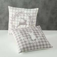 details zu deko kissen hirsch leopold landhaus karo dekoration wohnen sofa schlafzimmer