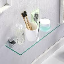 glas wandregal schweberegal glas ablage badezimmer küche