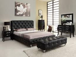 Black Leather Headboard With Crystals by Modern Bedroom With Jcpenney Black Leather Bedroom Furniture Set
