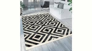 teppich poco 821 paco home rechteckig höhe 7 mm rauten design mit fransen in und outdoor geeignet wohnzimmer