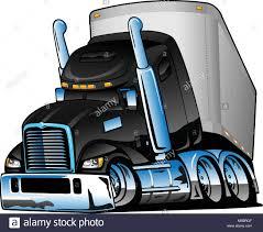 Semi Truck With Trailer Cartoon Vector Illustration Stock Vector Art ...