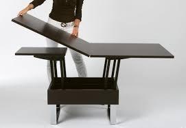 salle de séjour table basse relevable idee originale extensible