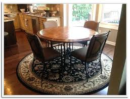 Round Dining Room Rug Image Of Area Rug Under Round Dining Table