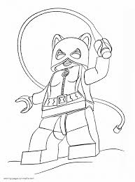 Lego Batman Coloring Sheet Catwoman