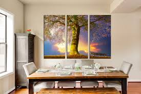 Canvas Wall Art For Dining Room by 3 Piece Canvas Print Scenery Huge Canvas Art Blue Multi Panel