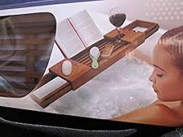 Teak Wood Bathtub Caddy by Amazon Com Ginsey Teak Tub Caddy Home U0026 Kitchen
