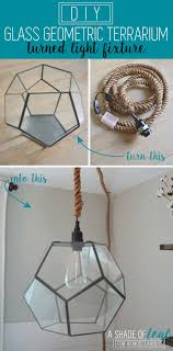 Make Your Own Designer Inspired Geometric Pendant Light Using A Premade Glass Terrarium And