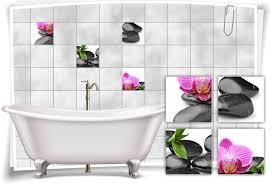 home decor fliesen aufkleber fliesen bild orchideen steine