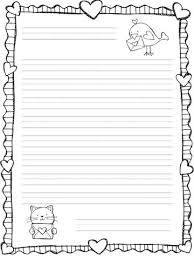 Letter Writing Paper Template for First Grade
