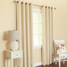 2 heavy faux silk panels blackout beige grommet window curtain