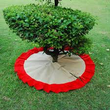 Wholesale Blanks Burlap Christmas Tree Skirt Cute And New Jute With Ruffle For Chistmas Decorate Domil106200 Best Xmas Decorations Big