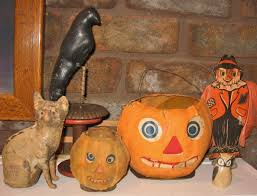 Vintage Halloween Blow Molds by Antique Halloween Decorations Home Decor Youtube
