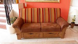 canapé cuir et bois rustique kuom salons salons rustiques