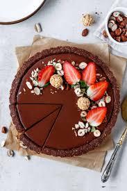 fruchtige schokoladen tarte mit knusperboden