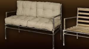 banc canapé canapé bois et métal chic
