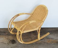Vintage Wicker Rocking Chair, Small Size 7.5