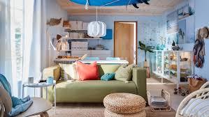 wohnzimmer gestalten frisch farbenfroh ikea schweiz