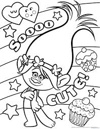 MANUALIDADES Dibujos Para Colorear De Los Trolls