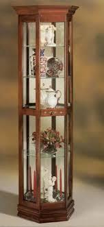 classic half hex curio cabinet by philip reinisch company wright