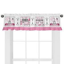 Target Pink Window Curtains by Sweet Jojo Designs Paris Window Valance Pink Target
